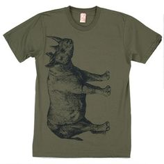 Rhino Tee Men's Army now featured on Fab.