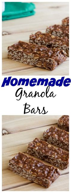 Granola Bars - A quick and easy homemade granola bar recipe that is so much better than store bought!