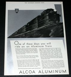 Here is a early original advertisement for The Aluminum Company of America. Th…