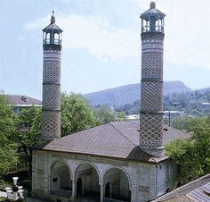 Yukhari Govhar Agha Masjid in Shusha, Nagorno-Karabakh