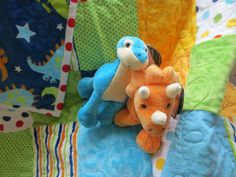 finger puppets to go with dinosaur quilt! made adorable gift! :) (didn't make puppets)