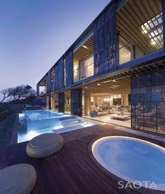 SAOTA (Stefan Antoni Olmesdahl Truen Architects) and Antoni Associates designed La Lucia, a home in Durban, South Africa. | #Architecture #House |