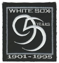 2d18aee3aeb 1995 CHICAGO WHITE SOX MLB BASEBALL 95 YEARS BLACK ALT JERSEY SLEEVE PATCH    14.95 End Date  Sunday Mar-3-2019 11 24 13 PST Buy It Now for…