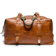 Soft Leather Weekender Bag. Hey I want this man bag.