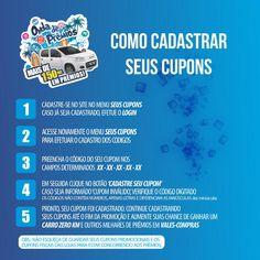 Passo a passo de como cadastrar seus #cupons #ondadepremios