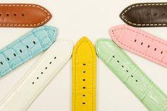 Watch straps aren't just black or brown.  #watches #watchwednesday #strap #alligator #leather #watchstraps #doylestown #buckscounty #bucks