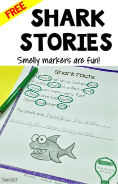 FREE Shark Facts reading passage plus tips to use with reluctant readers.
