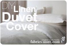 Diy Duvet Covers : DIY Linen Duvet Cover