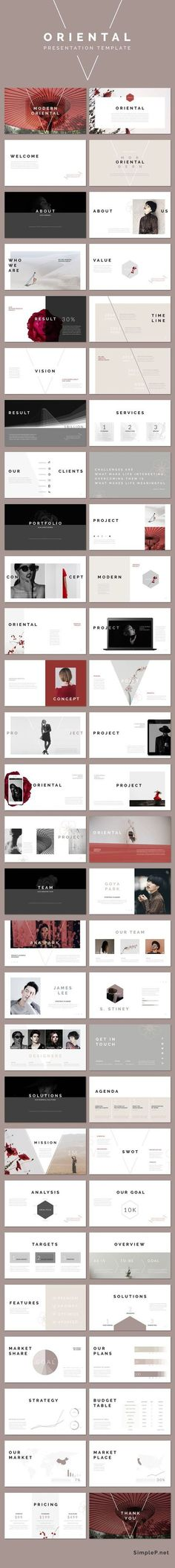 Modern Stylish Keynote Presentation Template #ppttemplate #oriental #portfolio #business #marketing #proposal
