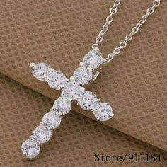 BUNDLE 30% OFF925 Sterling silver CZ Cross Necklac 925 Sterling silver CZ Cross Necklace Jewelry Necklaces