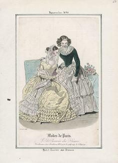 Petit Courrier des Dames - Modes de Paris November 1840 LAPL
