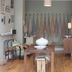 A collaboration between interior designer Burcu Akin and textile designer Piyush Suri, London-based Akin & Suri run Handmade Interiors, two shops in London dedicated to showcasing the best of Britain's designer-maker movement.    Geometric Fabrics from London, by Way of India : Remodelista