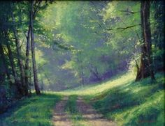Warming Woodland by Marc Hanson Pastel ~ 14 x 18