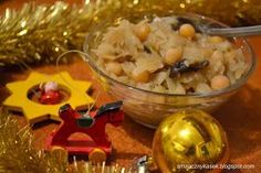 Smaczny kąsek: Kapusta z grochem i grzybami Potato Salad, Potatoes, Rice, Dinner, Ethnic Recipes, Christmas, Food, Ideas, Cooking