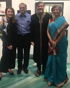 """Incredible event tonight hosting artist Amol Palekar's paintings """"Abstracts in Oils"""" curated by Sandhya Gokhale in support of Dinesh Patel's hospital in India."""