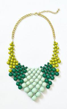 Bauble Necklace Ombre Necklace Mint by ShamelesslySparkly, $14.90