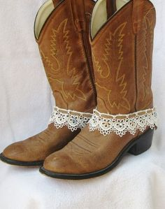 LEATHER AND LACE boot cuff bracelet studs rhinestones cowgirl. $28.00, via Etsy.