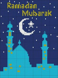 Islamic cross stitch, Ramadan, Mosque