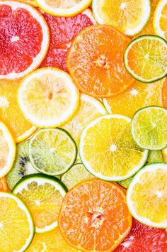 oranges ,grapefruit,kiwi, lemon and other fruits sliced Throw Pillow by - Cover x with pillow insert - Tolle Desserts, Köstliche Desserts, Fruit And Veg, Fruits And Veggies, Citrus Fruits, Fruit Slices, Grapefruit, Food Styling, Food Art