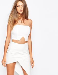 Image 1 of Missguided V Insert Bustier Top