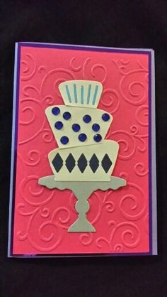 Birthday card with using cake die