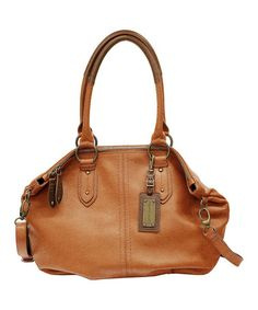 Take a look at this Walnut Christie Tote by Franco Sarto on #zulily today! $77 !!