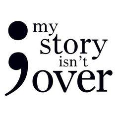 Semicolon My Story Isn't Over Temporary Tattoo – Pickazona Deep Tattoo, Awareness Tattoo, Semicolon Tattoo, Melanoma Tattoo, Tattoos For Guys, Favorite Quotes, Me Quotes, Qoutes, Tattoo Quotes