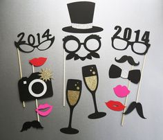 New Years Photo Booth Props New Years by PureSimpleThings on Etsy, $24.95