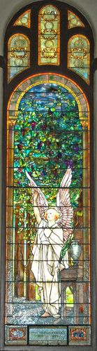 Tiffany Stained Glass 3  QE your Angels outside of church that you saw as a little girl