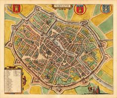 Tournai, Belgium - called Tornacum, 1617