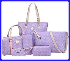 King Ma Women's Totes 6 Pieces Set Handbag Cross-Body Pouch Purse Wallets - Totes (*Amazon Partner-Link)