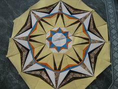 Voilà une méthode de couture qui permet de réaliser de très jolies choses en patchwork et de façon relativement simple, une fois qu'on a compris le principe ! On trouve facilement des modèles... Il n'y a plus qu'à suivre.... On travaille sur papier......