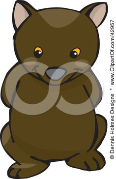 http://images.clipartof.com/small/42957-Clipart-Illustration-Of-A-Cute-And-Shy-Wombat-With-His-Arms-Behind-His-Back.jpg