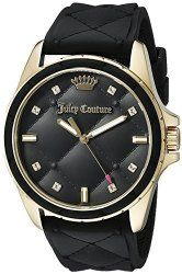 Juicy Couture Women's 1901314 Malibu Analog Display Quartz Black Watch
