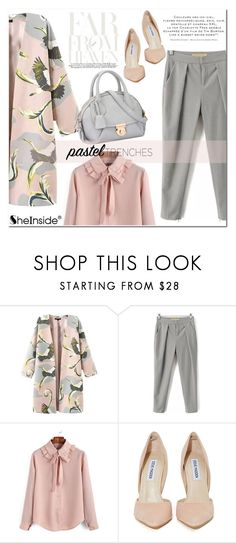 """""""Pretty Pastel Trench Coats"""" by aurora-australis ❤ liked on Polyvore featuring Steve Madden, women's clothing, women's fashion, women, female, woman, misses, juniors, Sheinside and polyvoreeditorial"""