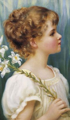 "Norman Prescott-Davies (British, ""Thoughtful M… Painting Of Girl, Painting For Kids, Children Painting, Art Children, Beautiful Paintings, Beautiful Images, Van Gogh, Pre Raphaelite Paintings, Watercolor Pictures"