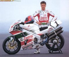Foggy and the RC45, Phillip Island testing 1996.