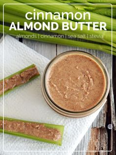 Healthy Recipe: Cinnamon Almond Butter & 6 Healthy Reasons To Eat Celery Primal Recipes, Raw Food Recipes, Low Carb Recipes, Snack Recipes, Cooking Recipes, Free Recipes, Lchf, Keto, Paleo Diet