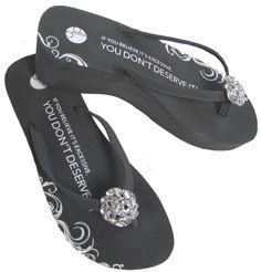bfa9fe7c1 Girl Two Doors Down Charcoal Diamond Brooch Platforms $38.95 Bridal Flip  Flops, Diamond Brooch,