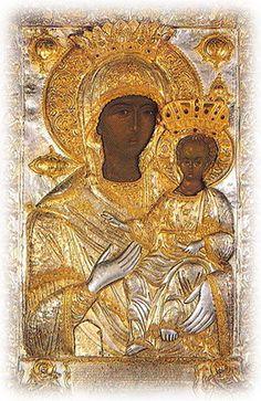 The Holy Icon of Panagia Odegetria Russian Icons, Russian Art, Religious Icons, Religious Art, Madonna Art, Madonna And Child, Famous Freemasons, Art Corner, Catholic Art