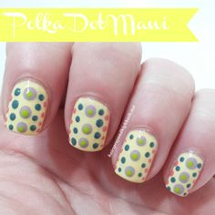Polka Dot Manicure that's perfect for Spring and easy to do! #nails #beauty