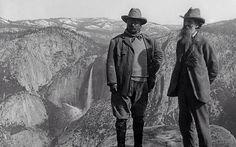 Yosemite with Teddy Roosevelt and John Muir.