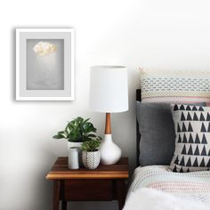 Bedroom Styling with Rain Cloud Art Print by Paula Kuka | Common Wild available on etsy