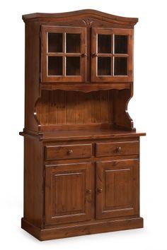 base credenza rustica 2 ante in legno massello di pino di svezia proposta in finitura noce www. Black Bedroom Furniture Sets. Home Design Ideas