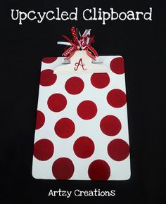 Upcycled/DIY clipboard by Artzy Creations