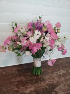 Sweet Pea Gardens bouquet