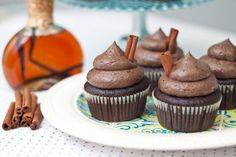 Mayan Chocolate Cupcakes.  Has a delicious sounding blend of mexican spices in it for an amazing sounding cupcake.