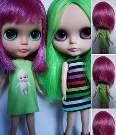 Oh! Look! Purple hair AND a Kewpie doll dress! Eeek!