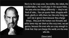 """Here is an inspiring post by friend and marketer, Erica Udeanu, """"Here's to the Crazy Ones""""!"""