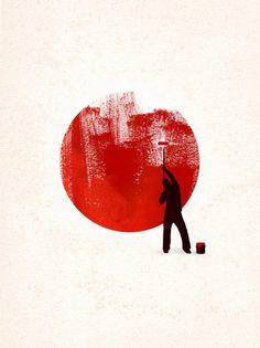 Red Art 4 Japan Rob Dobi - a href=http://fullbleed.imagekind.com/store/imagedetail.aspx/a8eff957-6b4b-45a2-a965-5cb4ca7c7643/Help_JapanRob Dobi/a